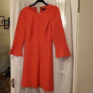 J crew coral flutter sleeve dress